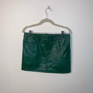 Alice + Olivia Leather Mini Skirt